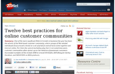 http://www.zdnet.com/blog/hinchcliffe/twelve-best-practices-for-online-customer-communities/190