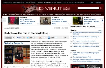 http://www.cbsnews.com/8301-18560_162-57563384/robots-on-the-rise-in-the-workplace/