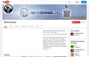 http://www.youtube.com/user/wearechange
