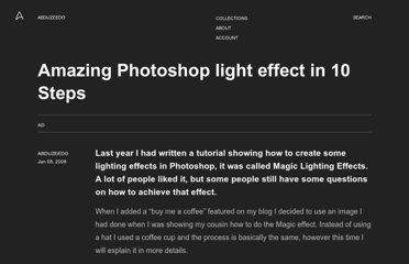 http://abduzeedo.com/amazing-photoshop-light-effect-10-steps