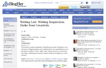 http://www.blogher.com/writing-lab-writing-inspiration-stoke-your-creativity