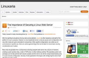 http://linuxaria.com/article/the-importance-of-securing-a-linux-web-server?lang=en