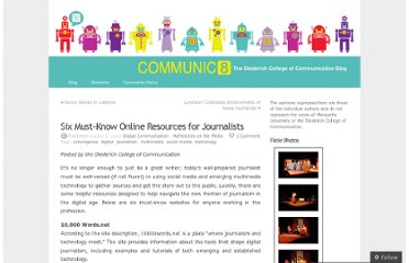 http://mucollegeofcomm.wordpress.com/2010/08/03/six-must-know-online-resources-for-journalists/