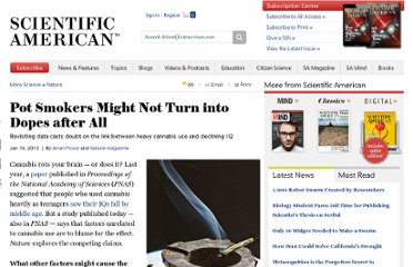 http://www.scientificamerican.com/article.cfm?id=pot-smokers-might-not-turn-into-dopes-after-all