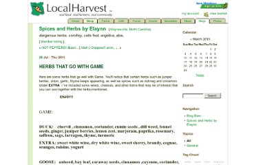 http://www.localharvest.org/blog/39774/entry/herbs_that_go_with_game