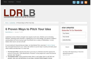 http://ldrlb.co/2013/01/six-proven-ways-to-pitch-your-idea/