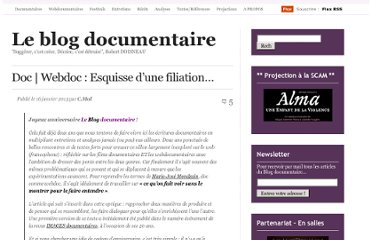 http://cinemadocumentaire.wordpress.com/2013/01/16/documentaire-webdocumentaire-esquisse-dune-filiation/