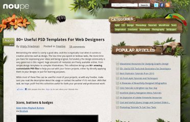 http://www.noupe.com/freebie/80-useful-psd-templates-for-designers.html