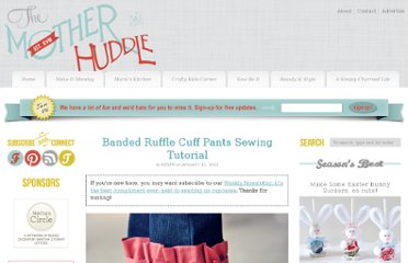 http://www.themotherhuddle.com/banded-ruffle-cuff-pants-sewing-tutorial/