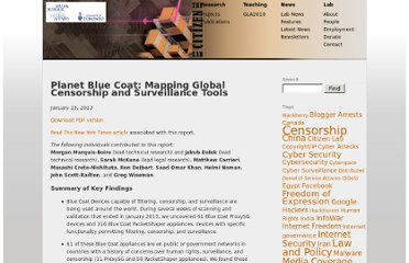 https://citizenlab.org/2013/01/planet-blue-coat-mapping-global-censorship-and-surveillance-tools/
