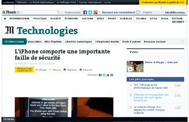 http://www.lemonde.fr/technologies/article/2010/08/04/l-iphone-comporte-une-importante-faille-de-securite_1395689_651865.html