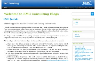 http://consultingblogs.emc.com/jamiethomson/archive/2006/01/05/SSIS_3A00_-Suggested-Best-Practices-and-naming-conventions.aspx