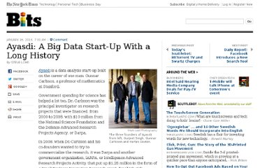 http://bits.blogs.nytimes.com/2013/01/16/ayasdi-a-big-data-start-up-with-a-long-history/