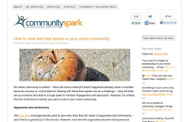 http://www.communityspark.com/how-to-deal-with-bad-apples-in-your-online-community/