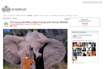 http://www.mymodernmet.com/profiles/blogs/tippi-degre-growing-up-with-african-wildlife