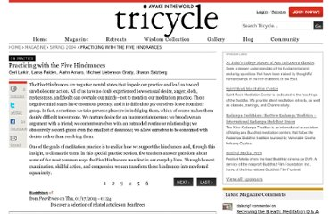 http://www.tricycle.com/-practice/practicing-five-hindrances?page=0,0