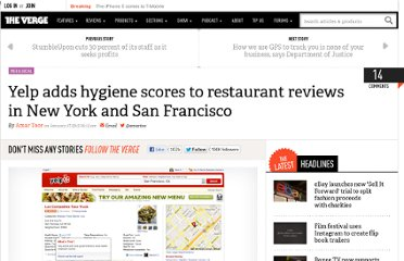 http://www.theverge.com/2013/1/17/3886004/yelp-adds-restaurant-hygiene-scores-in-new-york-san-francisco