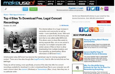 http://www.makeuseof.com/tag/top-places-to-get-free-legal-concert-recordings/