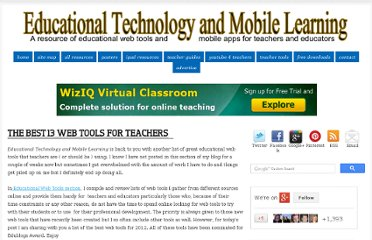 http://www.educatorstechnology.com/2013/01/the-best-13-web-tools-for-teachers.html