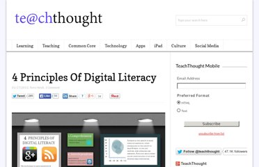 http://www.teachthought.com/technology/4-principals-of-digital-literacy/