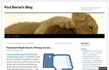 http://paulbernal.wordpress.com/2013/01/17/facebook-graph-search-privacy-issues/