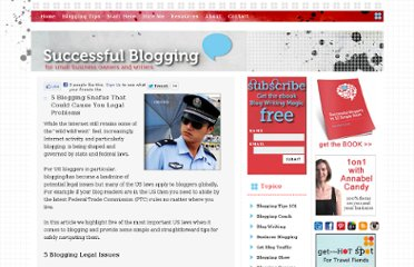http://www.successfulblogging.com/legal-issues/