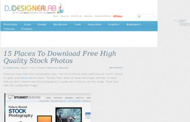 http://djdesignerlab.com/2010/08/05/15-places-to-download-free-high-quality-stock-photos/