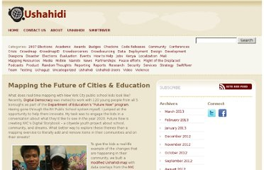 http://blog.ushahidi.com/2010/08/27/mapping-the-future-of-cities-education/