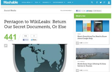 http://mashable.com/2010/08/05/pentagon-wikileaks-demand/
