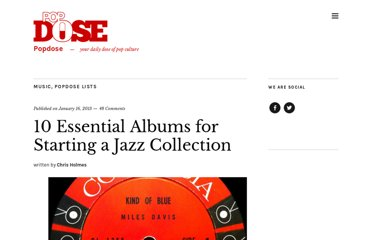 http://popdose.com/10-essential-albums-for-starting-a-jazz-collection/