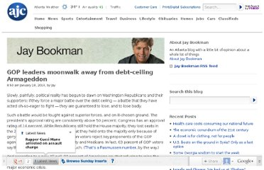 http://blogs.ajc.com/jay-bookman-blog/2013/01/18/gop-leaders-moonwalk-away-from-debt-ceiling-armageddon/?cxntfid=blogs_jay_bookman_blog