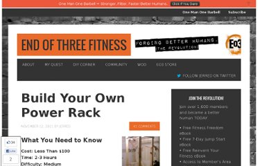 http://www.endofthreefitness.com/crossfit-equipment-build-your-own-power-rack-2/