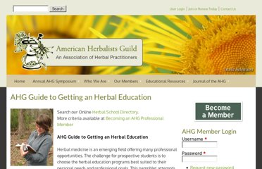 http://www.americanherbalistsguild.com/herbal_education