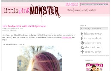 http://www.littlepinkmonster.com/2012/03/20/how-to-dye-hair-with-chalk-pastels/