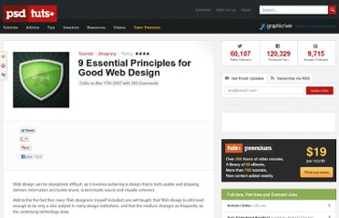 http://psd.tutsplus.com/tutorials/designing-tutorials/9-essential-principles-for-good-web-design/