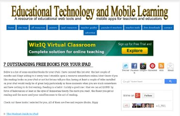 http://www.educatorstechnology.com/2013/01/7-outstanding-books-for-your-ipad.html