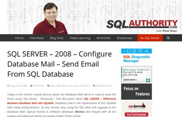 http://blog.sqlauthority.com/2008/08/23/sql-server-2008-configure-database-mail-send-email-from-sql-database/