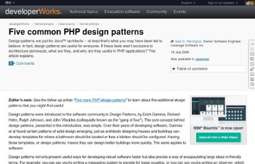 http://www.ibm.com/developerworks/library/os-php-designptrns/