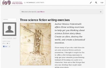 http://io9.com/5544829/three-science-fiction-writing-exercises