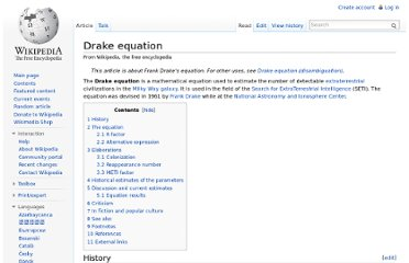 http://en.wikipedia.org/wiki/Drake_equation