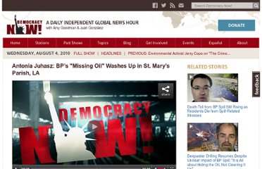 http://www.democracynow.org/2010/8/4/antonia_juhasz_bps_missing_oil_washes