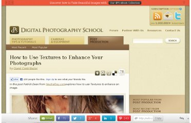http://digital-photography-school.com/how-to-use-textures-to-enhance-your-photographs