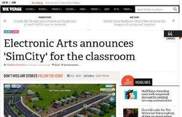 http://www.theverge.com/2013/1/19/3894034/electronic-arts-announces-simcity-for-the-classroom-simcityedu