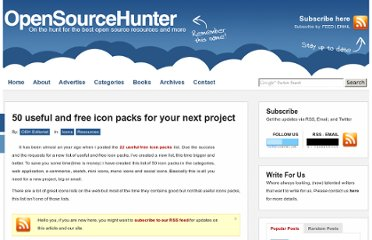 http://www.opensourcehunter.com/2010/02/01/50-useful-and-free-icon-packs-for-your-next-project/