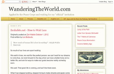 http://jim-wandering.blogspot.com/2012/10/zenhabitsnet-how-to-wait-less.html
