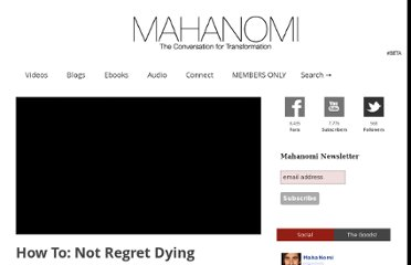 http://mahanomi.tv/how-to-not-regret-dying/