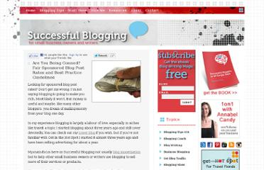 http://www.successfulblogging.com/sponsored-blog-post-rates/