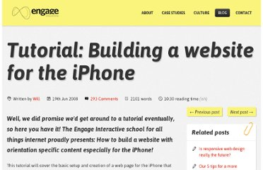 http://engageinteractive.co.uk/blog/tutorial-building-a-website-for-the-iphone