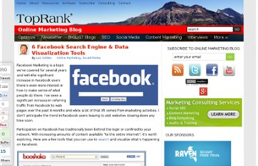 http://www.toprankblog.com/2010/08/6-facebook-search-engine-data-visualization-tools/