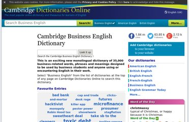 http://dictionary.cambridge.org/dictionary/business-english/